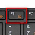 Contoh Tombol untuk mematikan touchpad acer aspire
